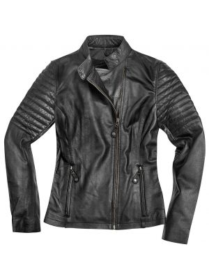 Black-Cafe London Shona Damen Motorrad Lederjacke