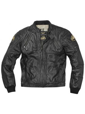 Black-Cafe London Dallas Motorrad Lederjacke